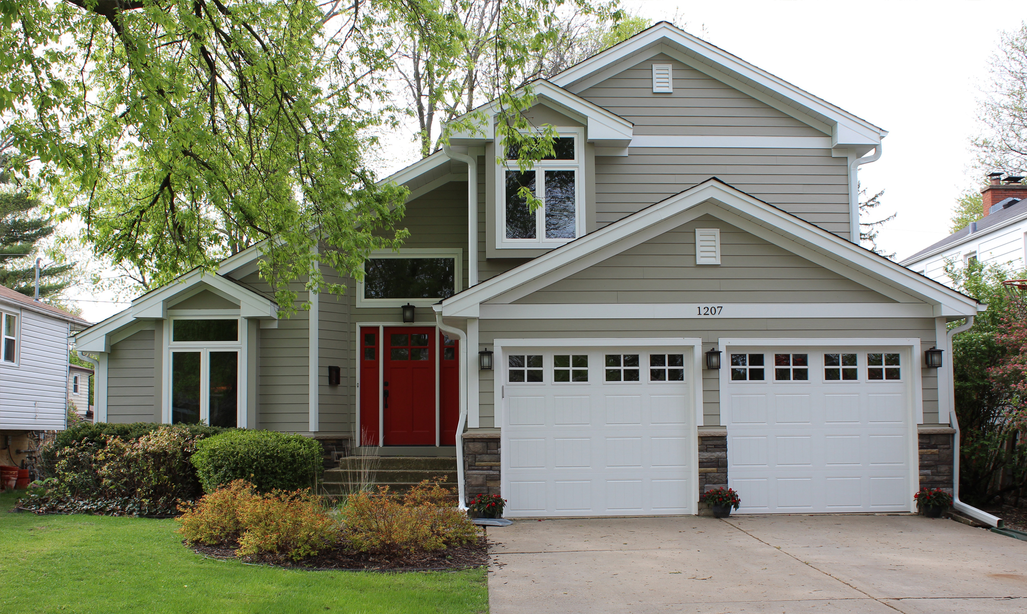 And To Tie Everything Together, A Therma Tru Red Door Provides That Great  Pop Of Color.