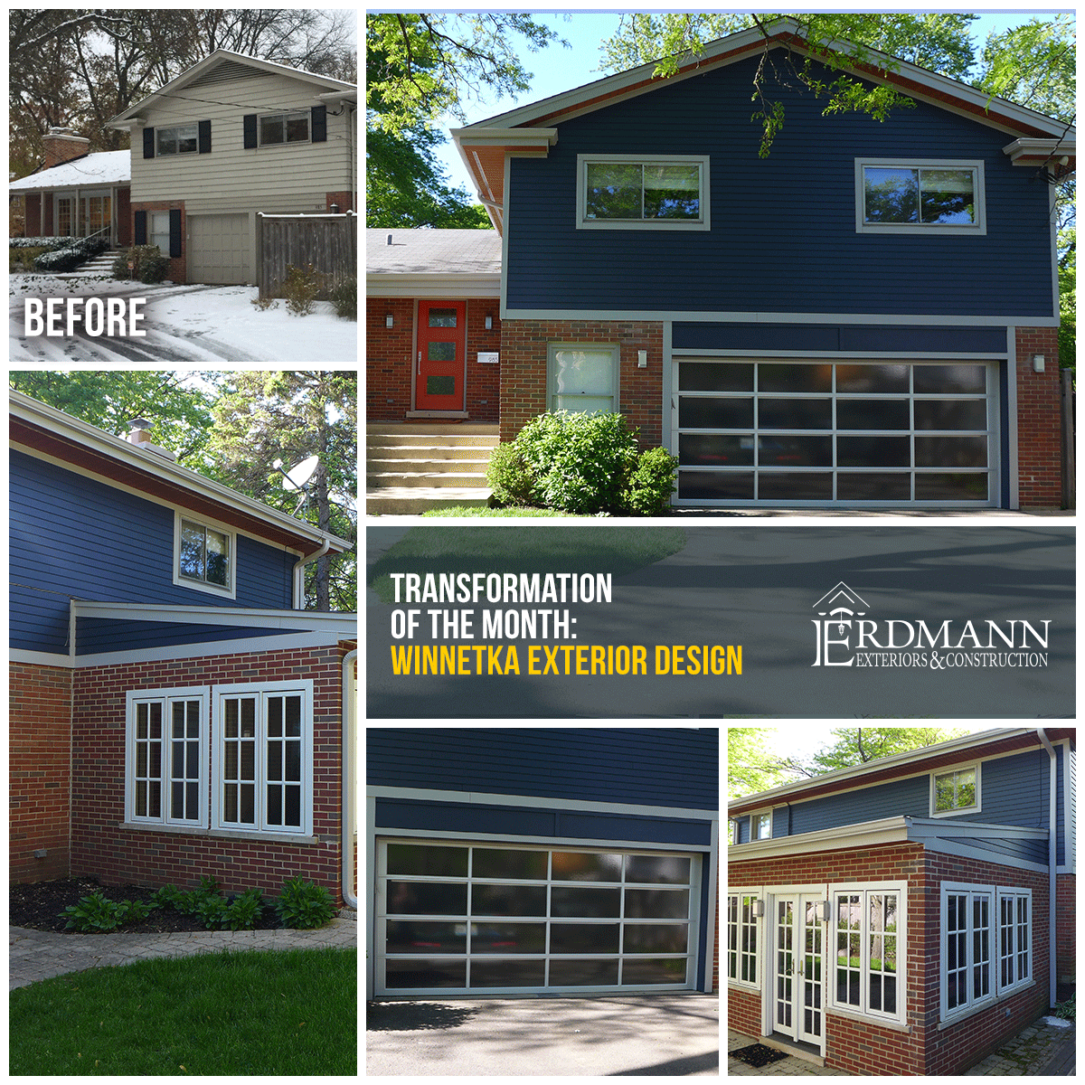 July transformation of the month from traditional to modern a winnetka exterior home remodel
