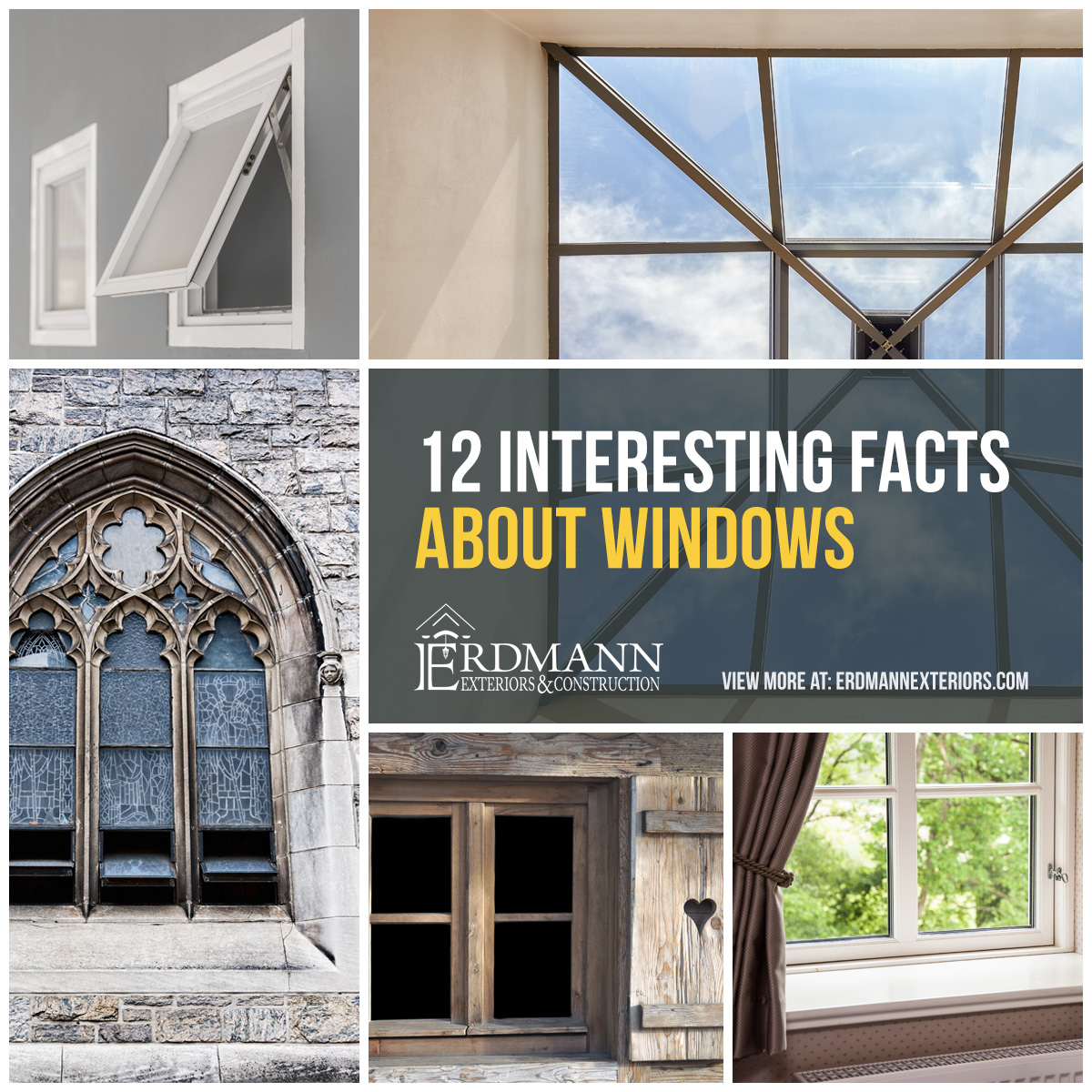 From aesthetics to efficiency windows are one